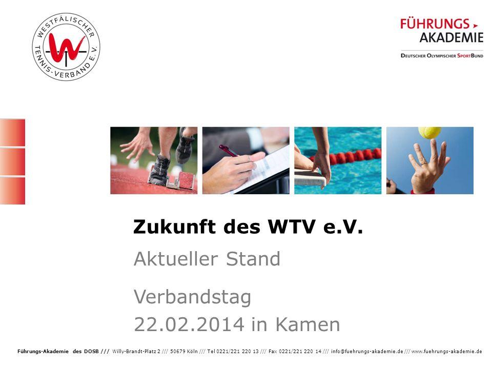 Aktueller Stand Verbandstag 22.02.2014 in Kamen