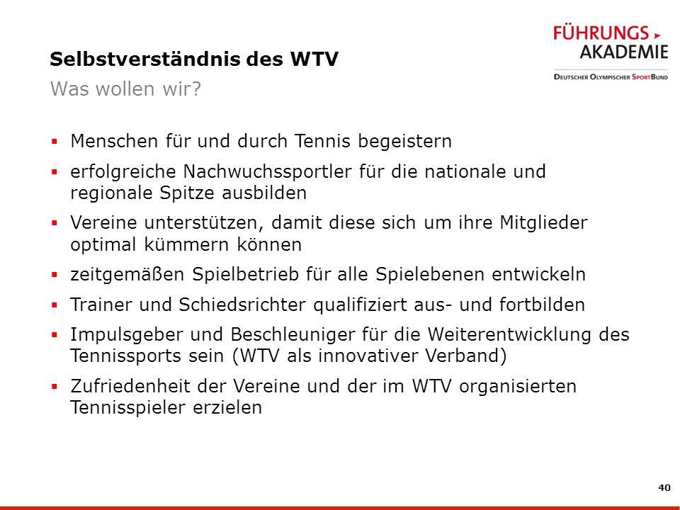 Selbstverständnis des WTV
