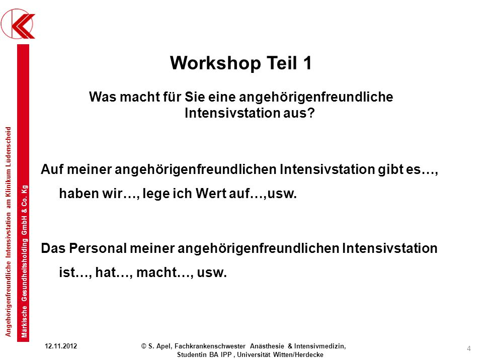Workshop Teil 1