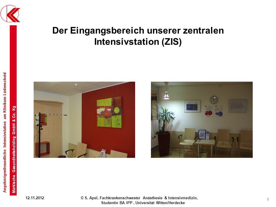 Der Eingangsbereich unserer zentralen Intensivstation (ZIS)