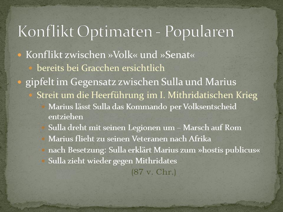 Konflikt Optimaten - Popularen