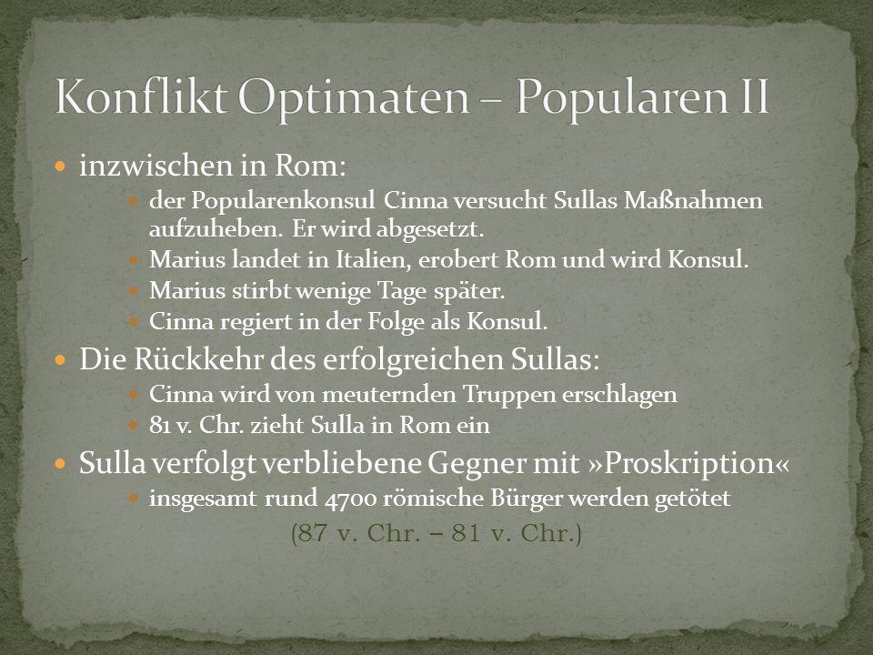 Konflikt Optimaten – Popularen II