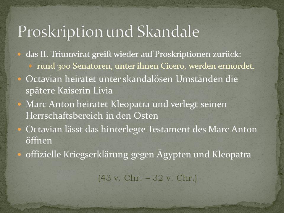 Proskription und Skandale