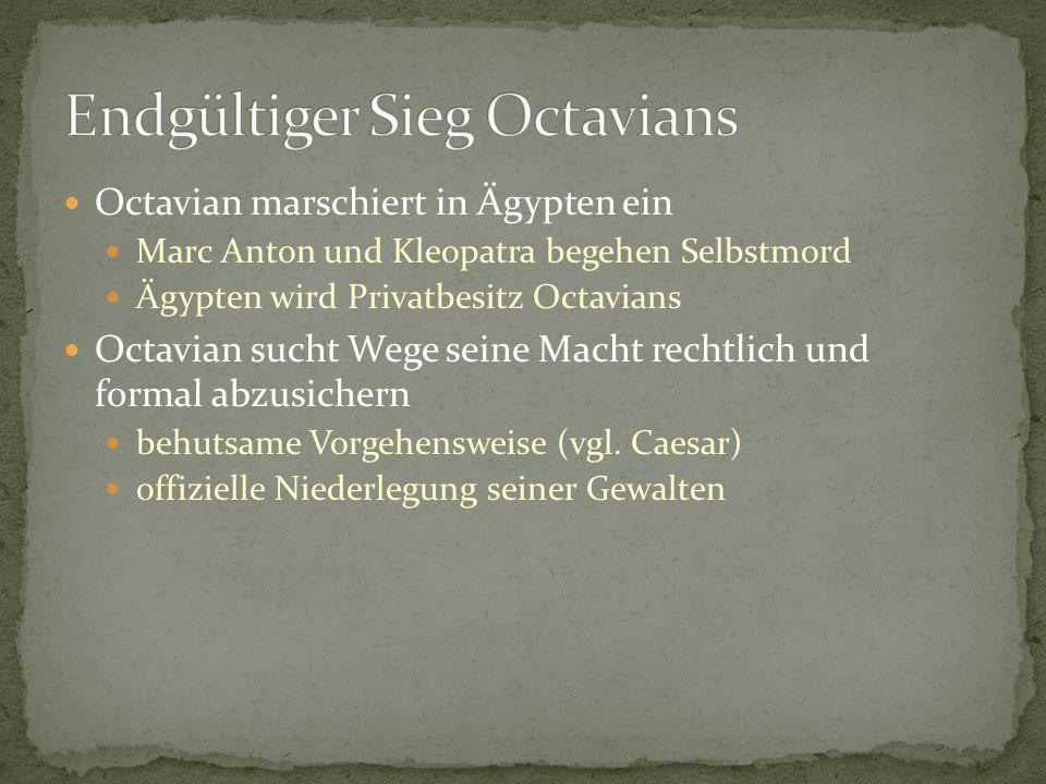 Endgültiger Sieg Octavians