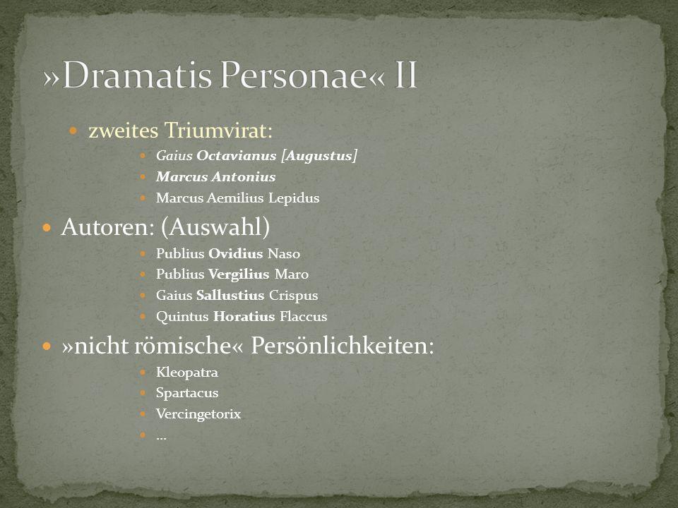 »Dramatis Personae« II