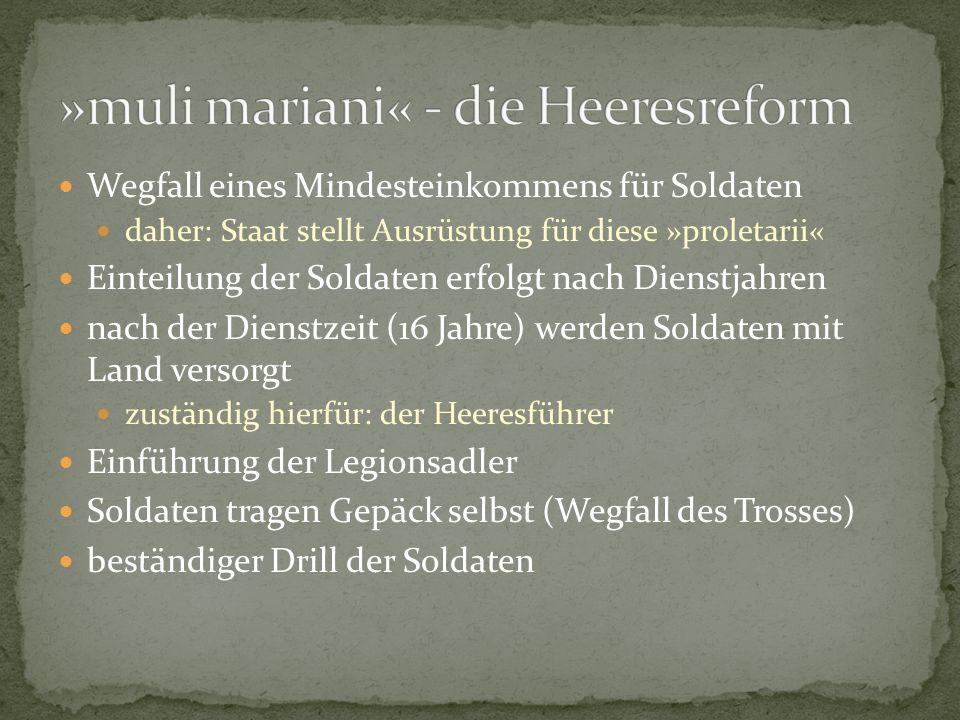 »muli mariani« - die Heeresreform