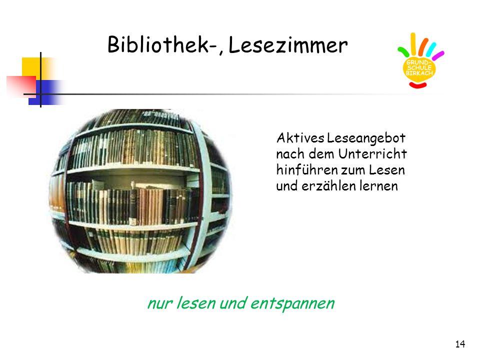 Bibliothek-, Lesezimmer