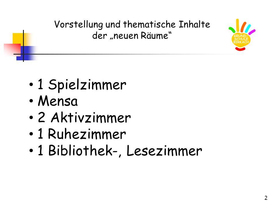 """Vorstellung und thematische Inhalte der """"neuen Räume"""