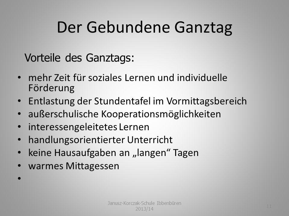 Janusz-Korczak-Schule Ibbenbüren 2013/14