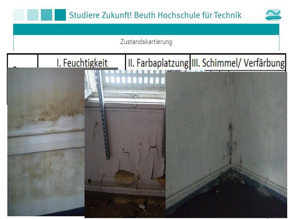 IV . Ausblähungen V . Mauerwerk / Gipskartonplatten VI . Fußbodenbelag