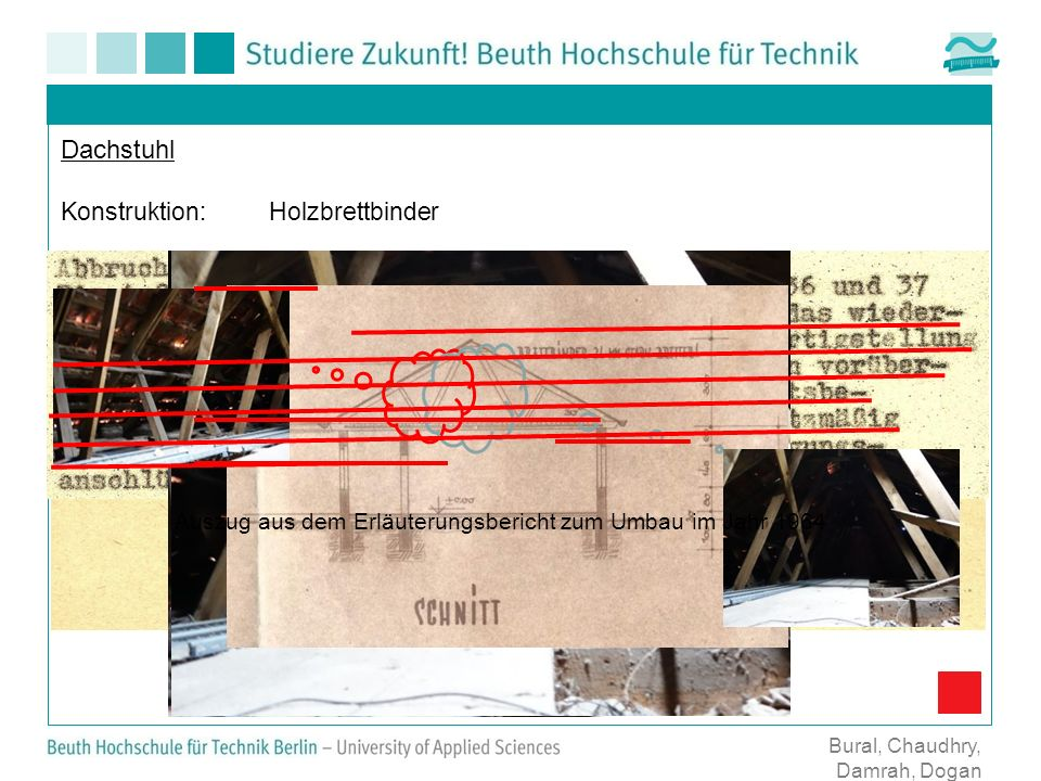 Dachstuhl Konstruktion: Holzbrettbinder