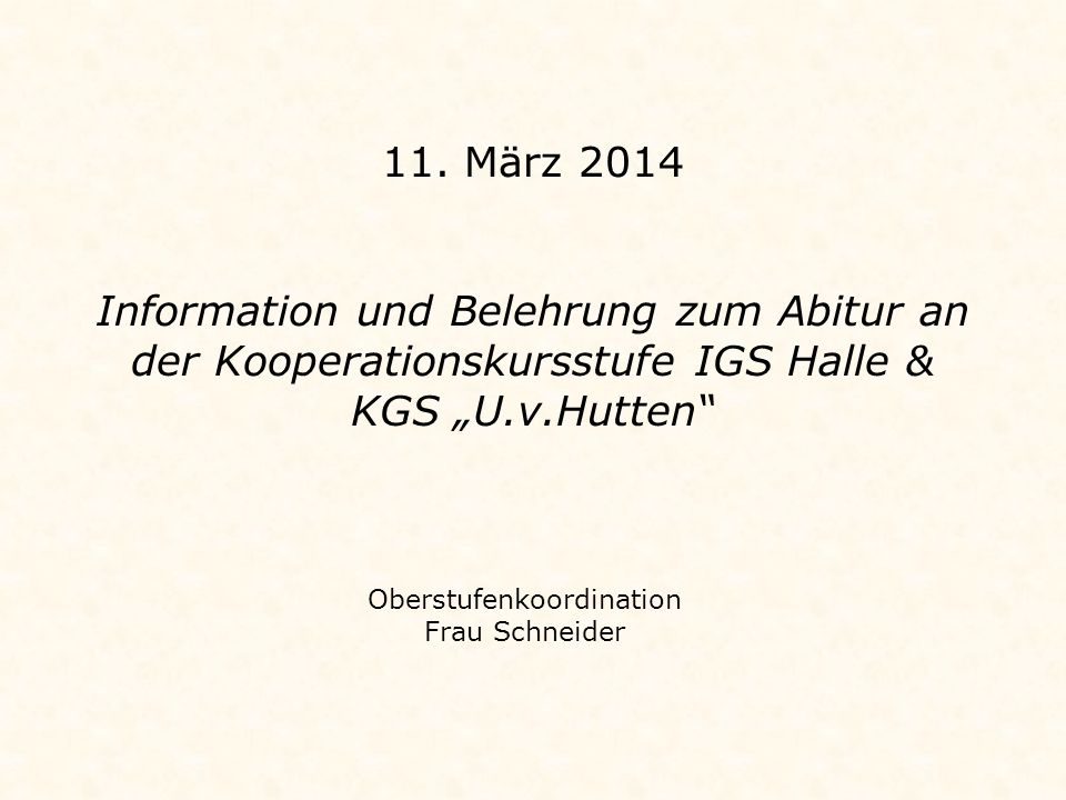 Oberstufenkoordination