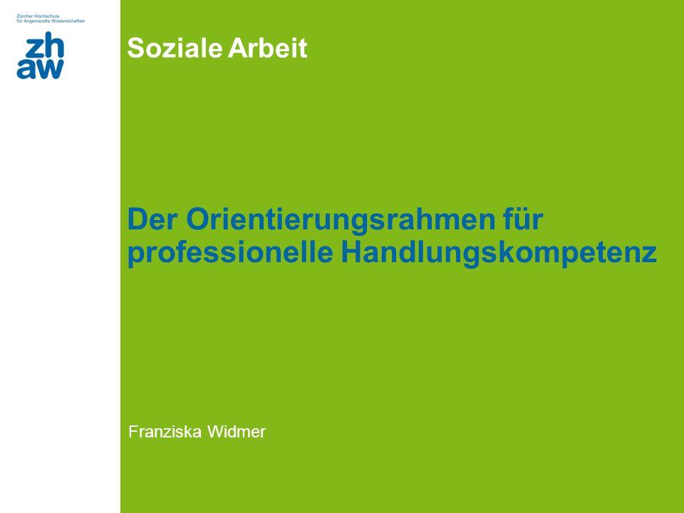 Der Orientierungsrahmen für professionelle Handlungskompetenz