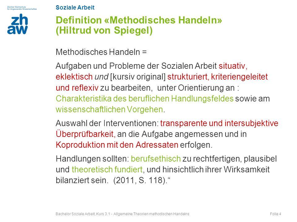 Definition «Methodisches Handeln» (Hiltrud von Spiegel)