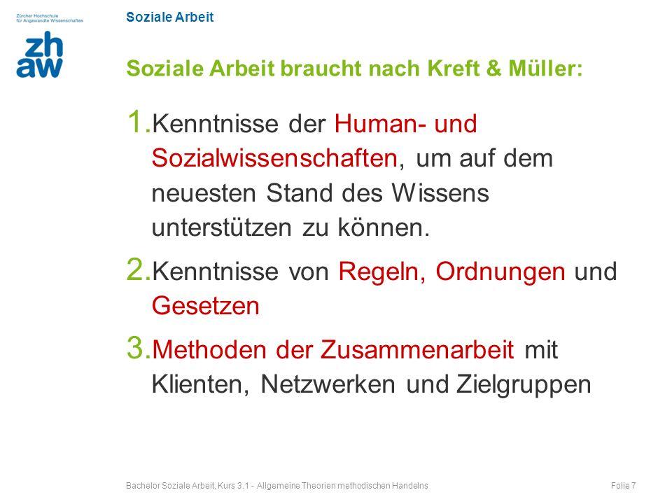 Soziale Arbeit braucht nach Kreft & Müller: