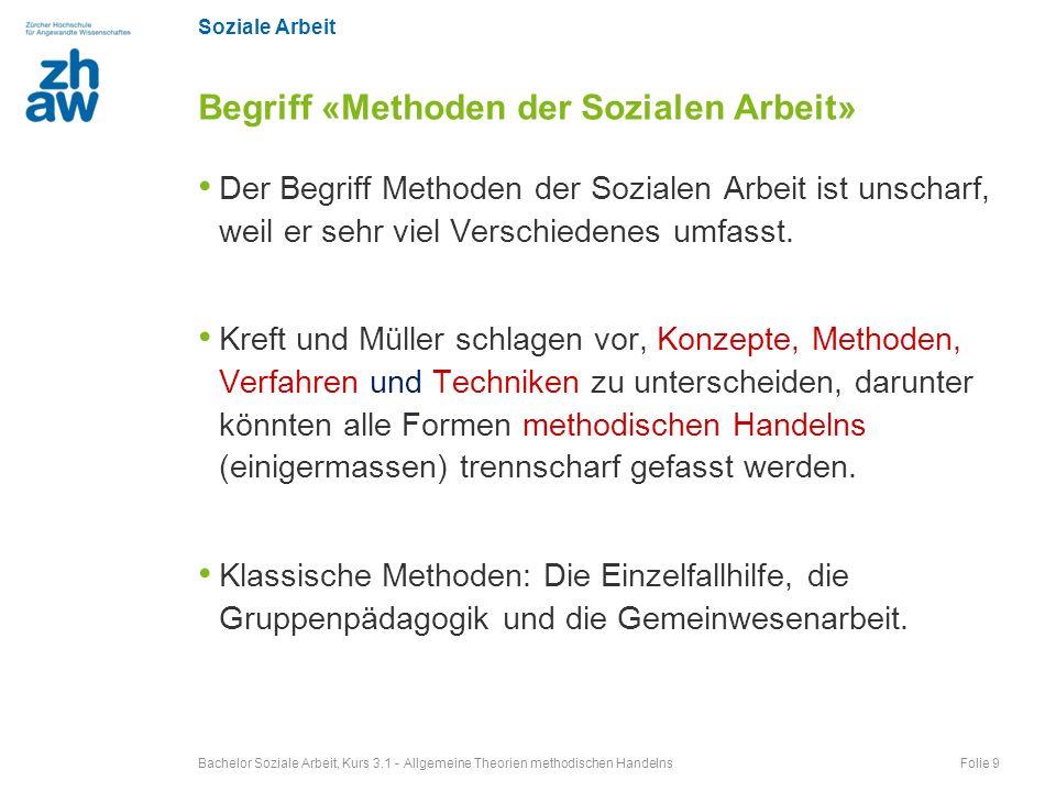Begriff «Methoden der Sozialen Arbeit»