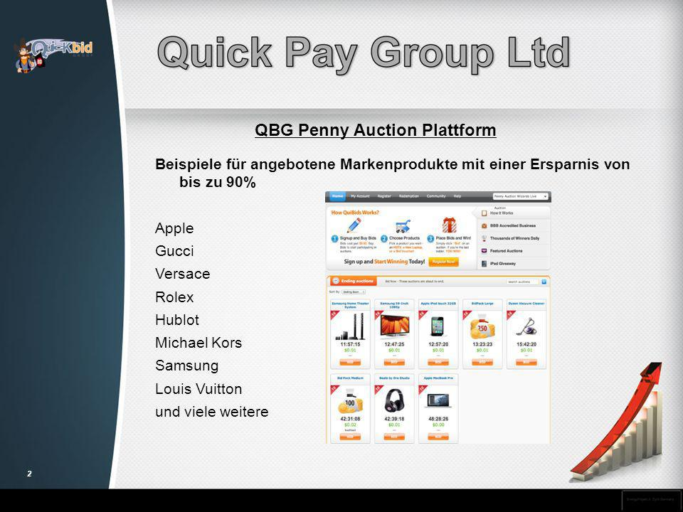 QBG Penny Auction Plattform
