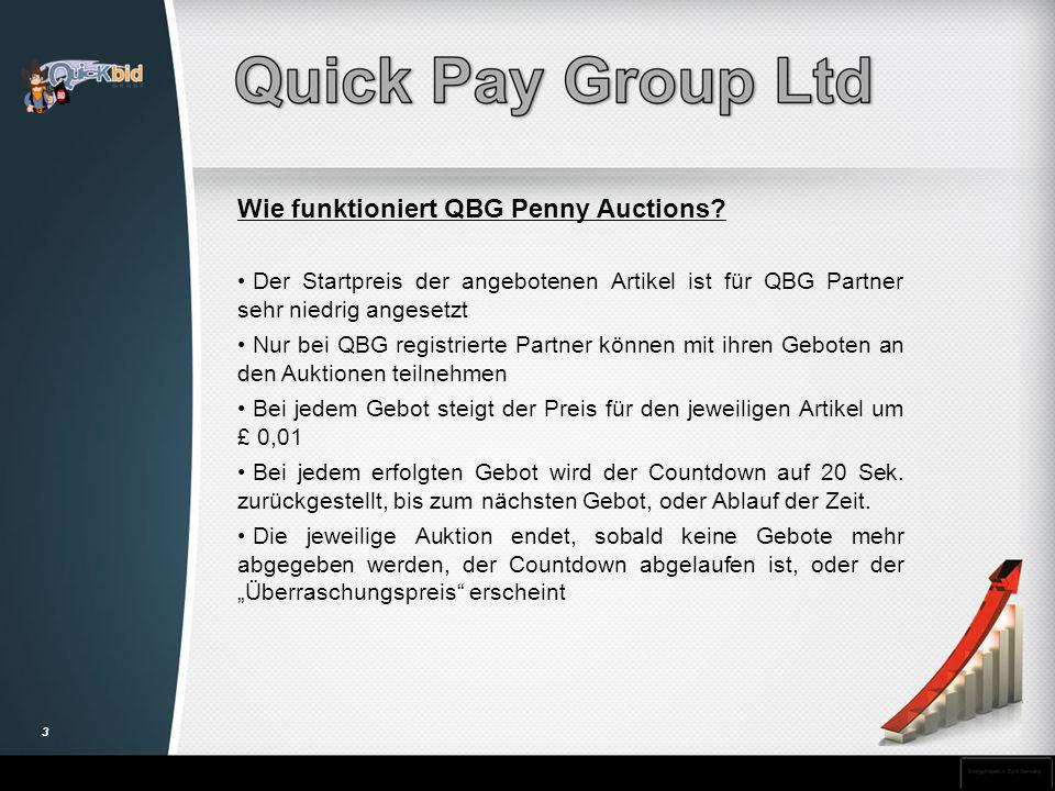 Wie funktioniert QBG Penny Auctions