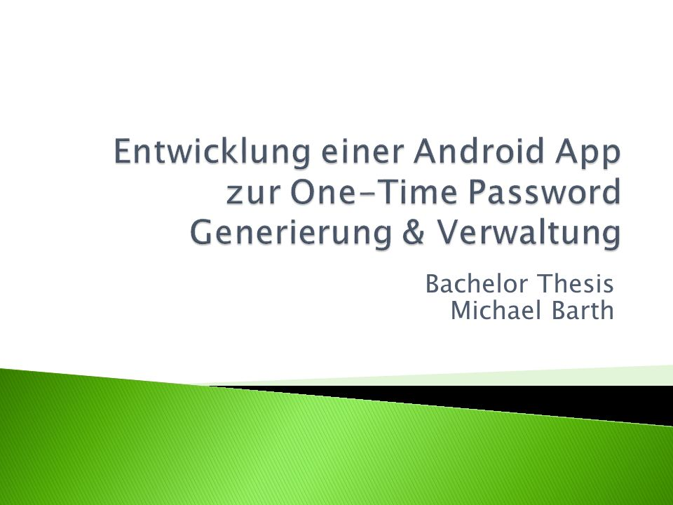 Bachelor Thesis Michael Barth