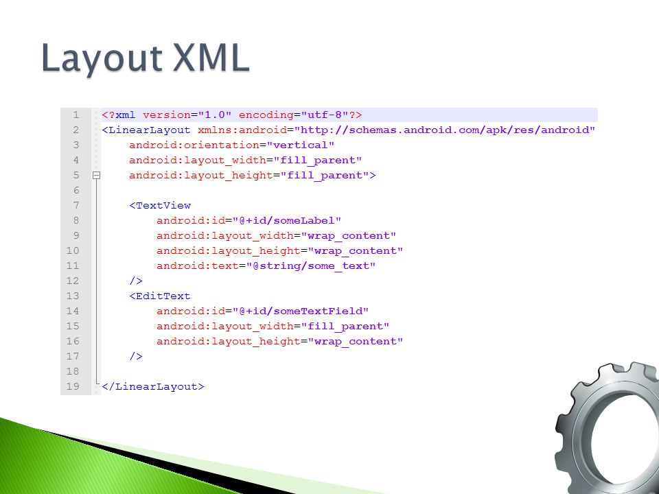 Layout XML