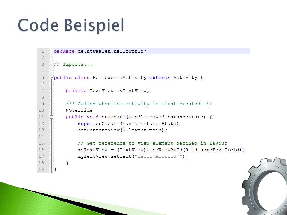 Code Beispiel