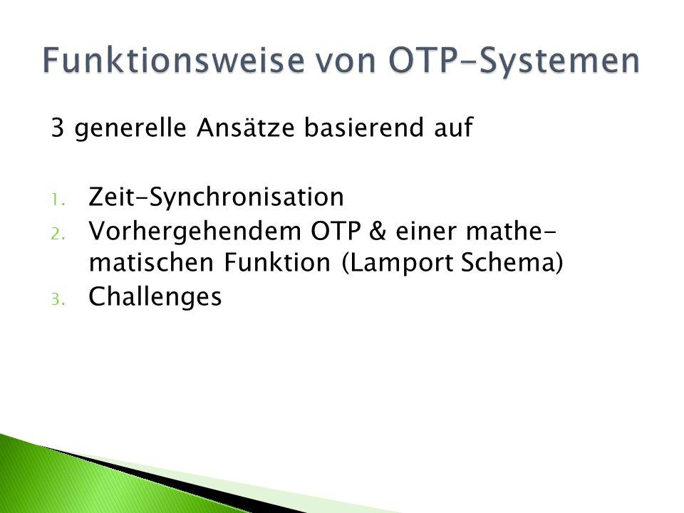 Funktionsweise von OTP-Systemen