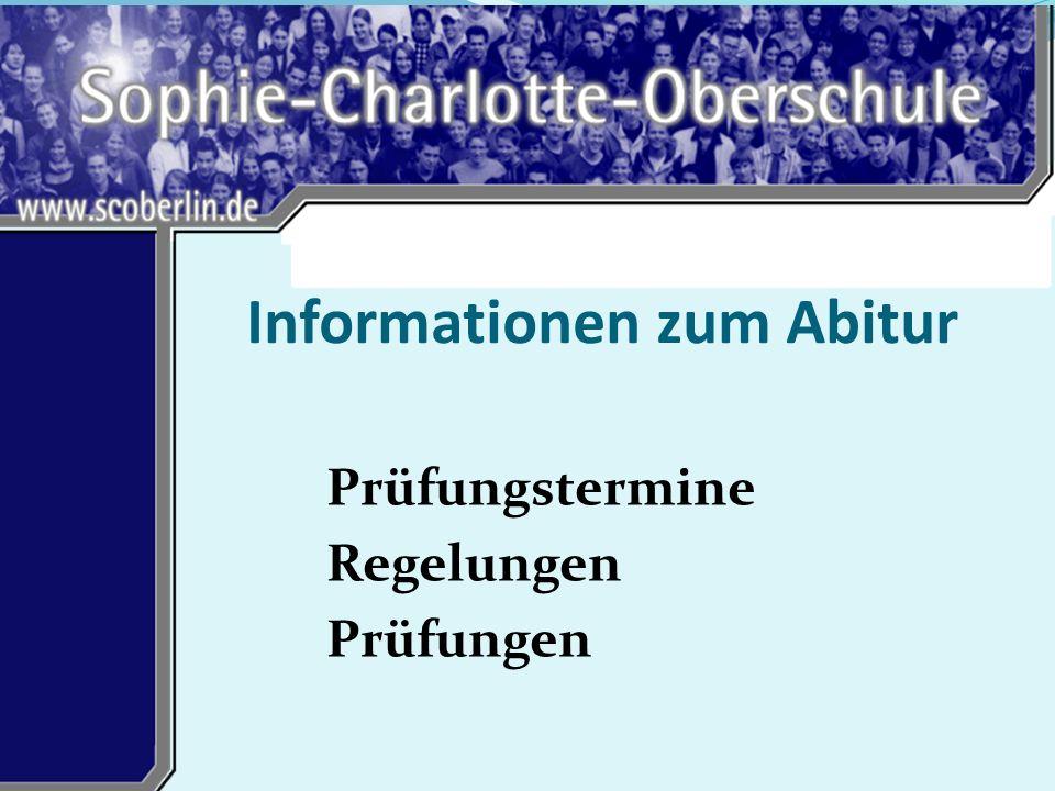 Informationen zum Abitur