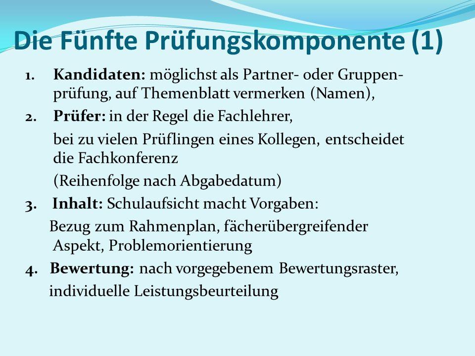 Die Fünfte Prüfungskomponente (1)