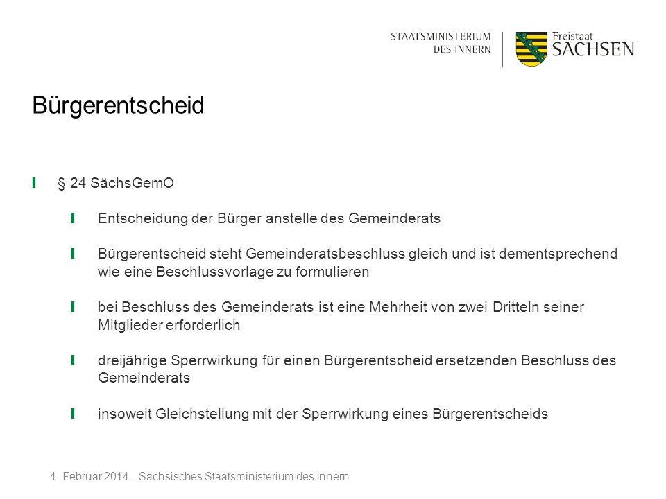 Bürgerentscheid § 24 SächsGemO