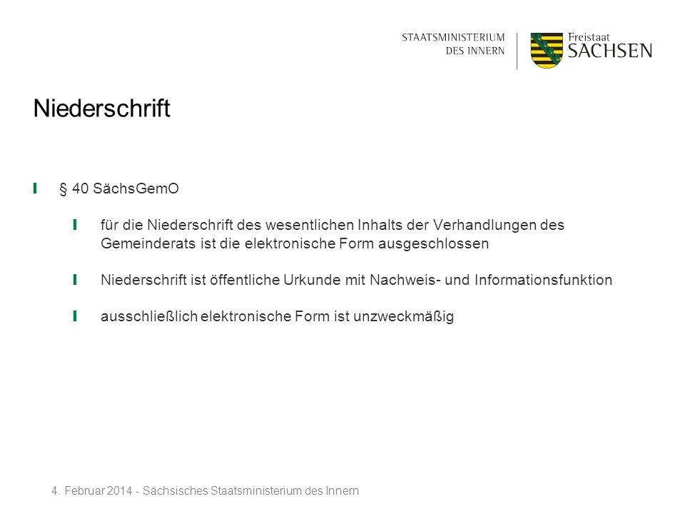 Niederschrift § 40 SächsGemO