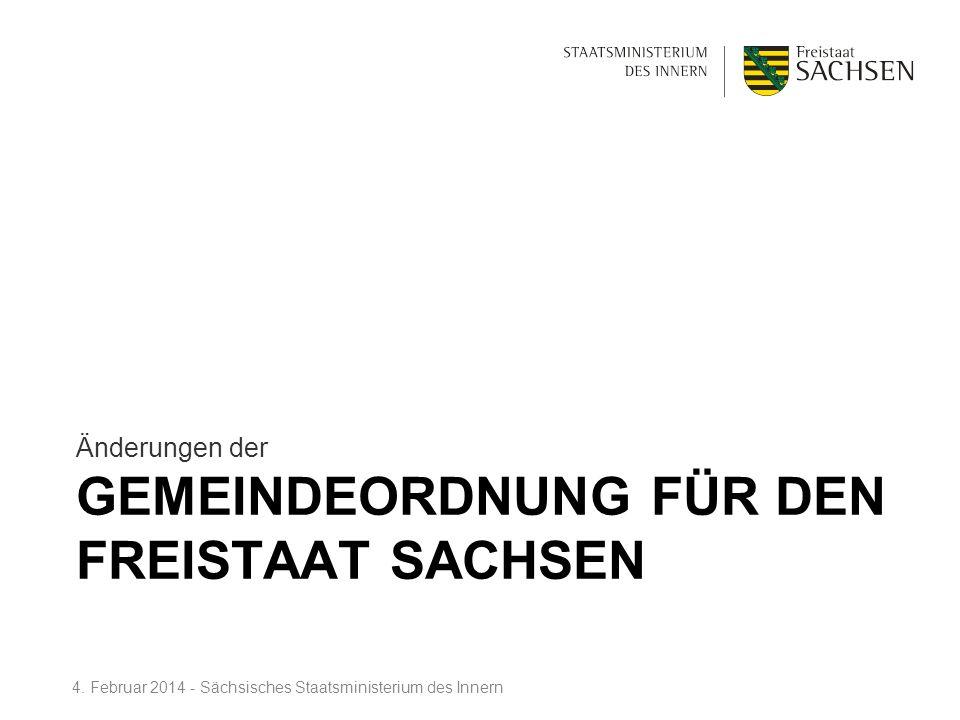 Gemeindeordnung für den Freistaat Sachsen
