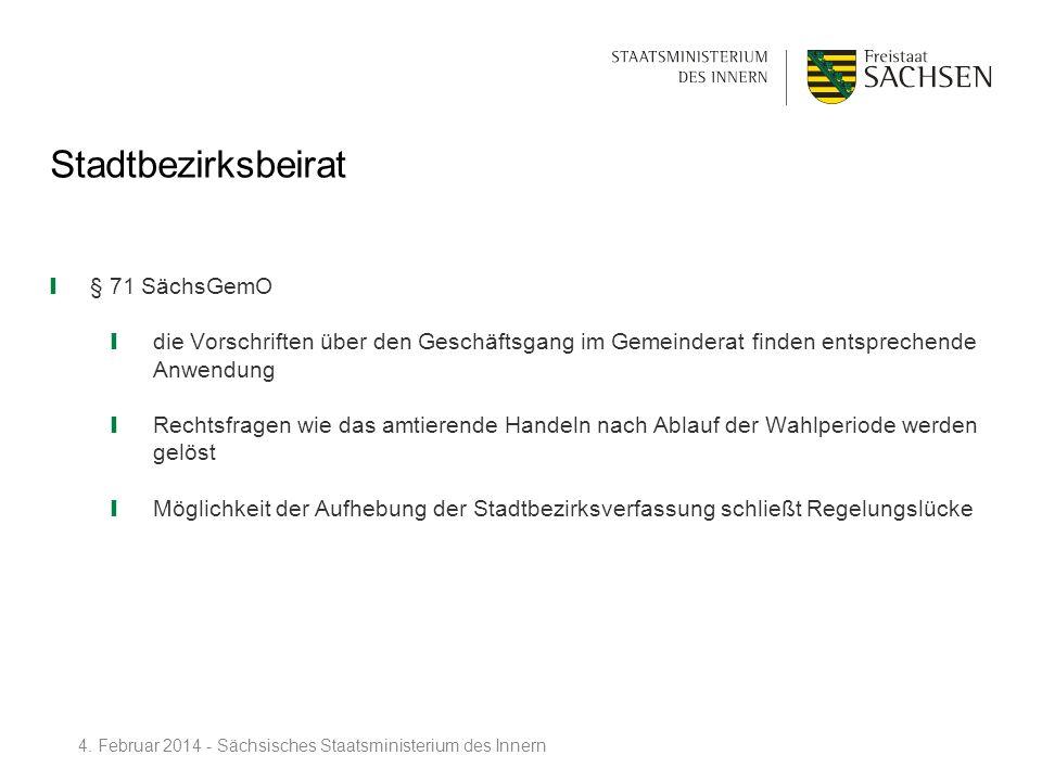 Stadtbezirksbeirat § 71 SächsGemO