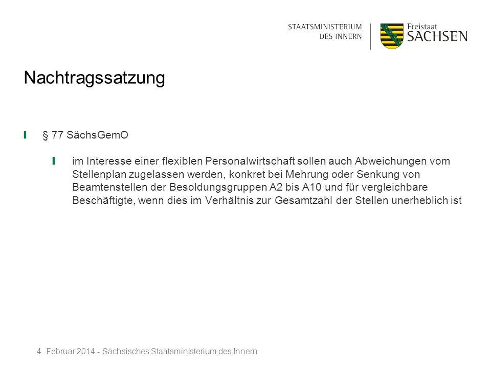 Nachtragssatzung § 77 SächsGemO