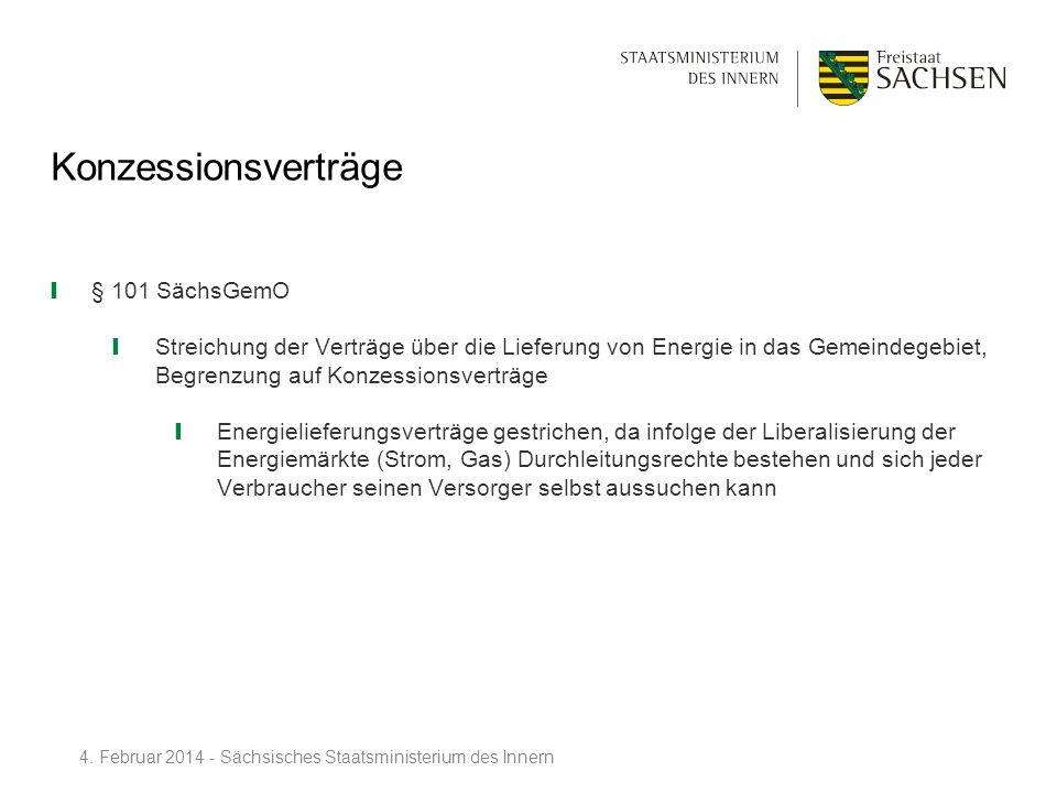 Konzessionsverträge § 101 SächsGemO
