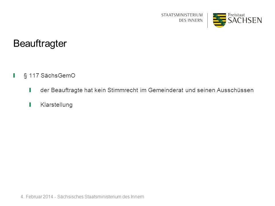 Beauftragter § 117 SächsGemO