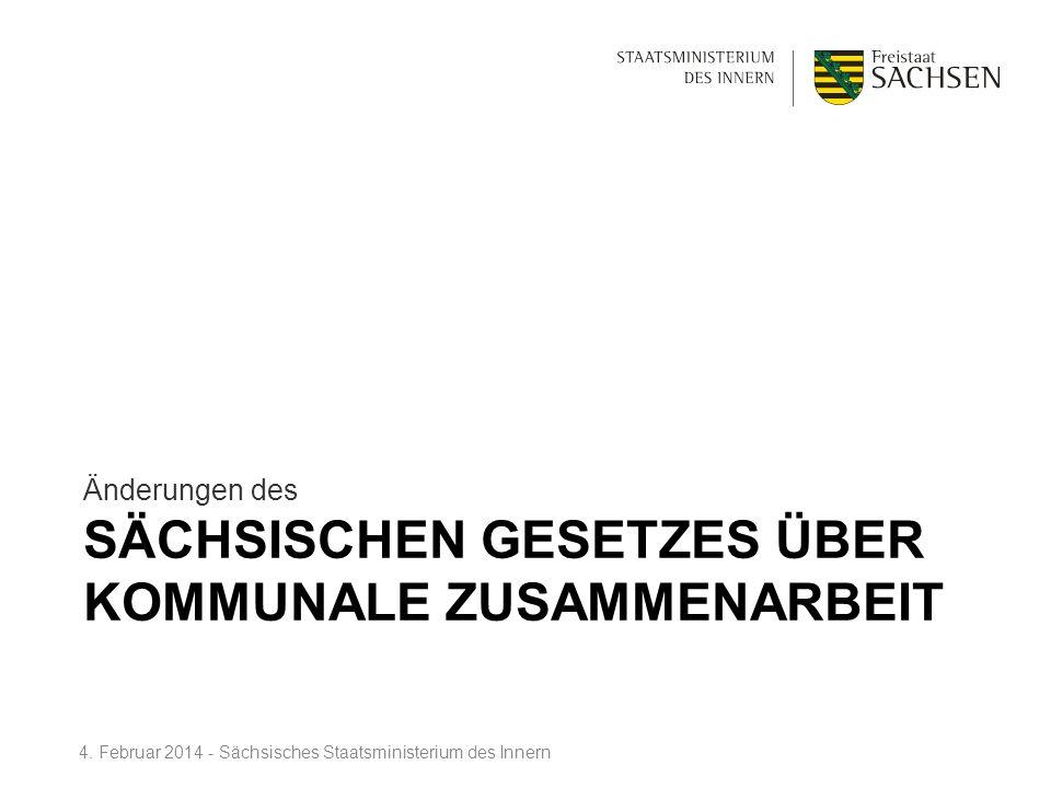Sächsischen Gesetzes über kommunale Zusammenarbeit