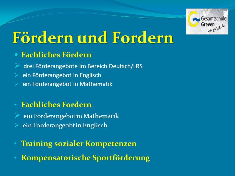 Fördern und Fordern drei Förderangebote im Bereich Deutsch/LRS