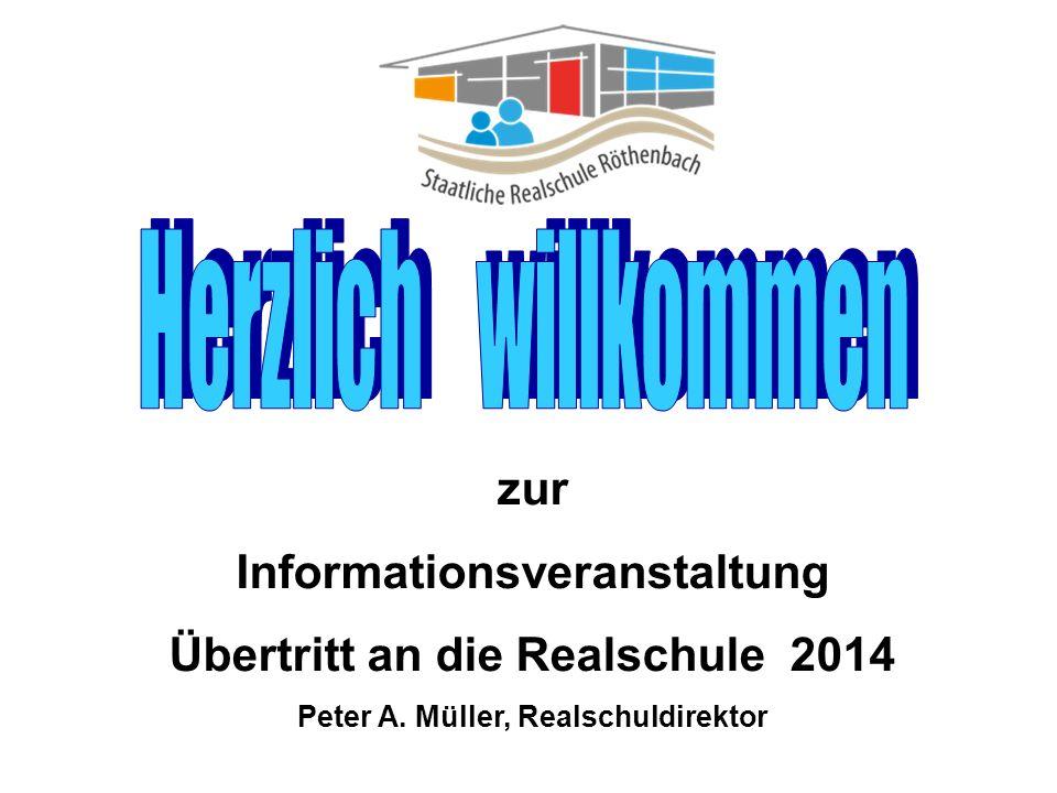 zur Informationsveranstaltung Übertritt an die Realschule 2014