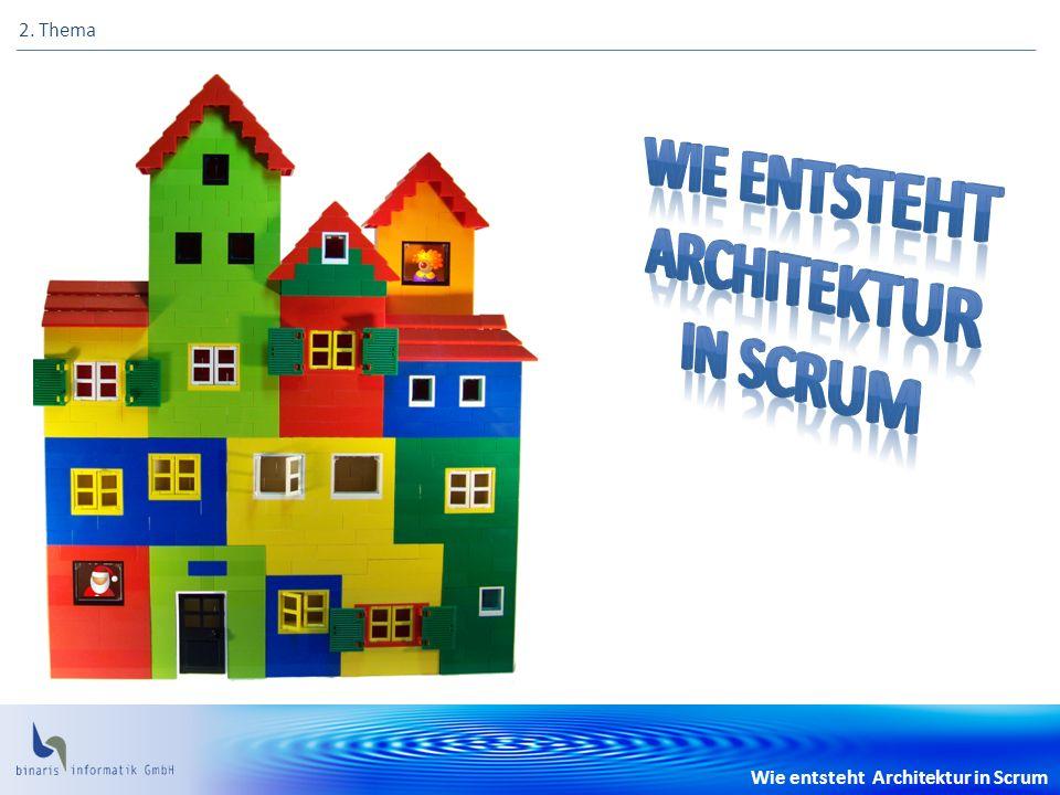Wie entsteht Architektur in Scrum