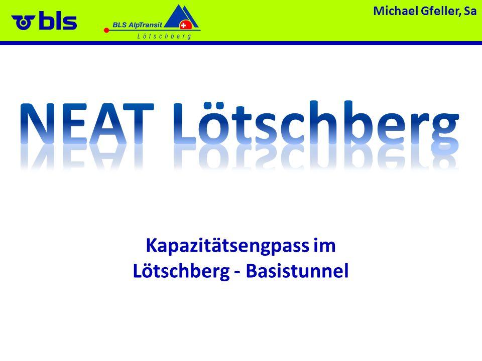 Kapazitätsengpass im Lötschberg - Basistunnel