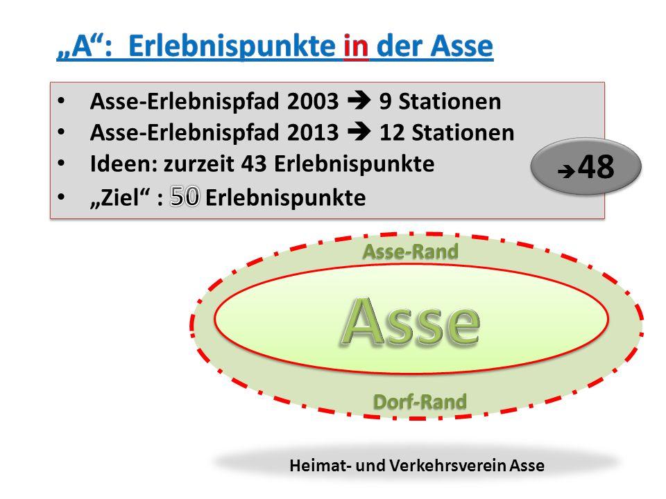 """Asse """"A : Erlebnispunkte in der Asse"""