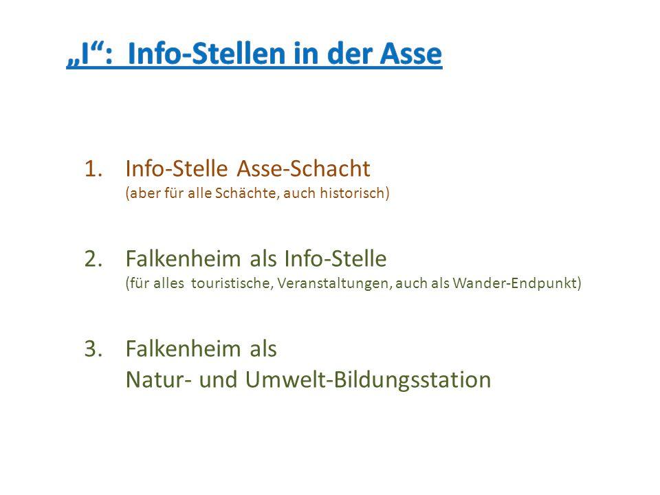 """""""I : Info-Stellen in der Asse"""