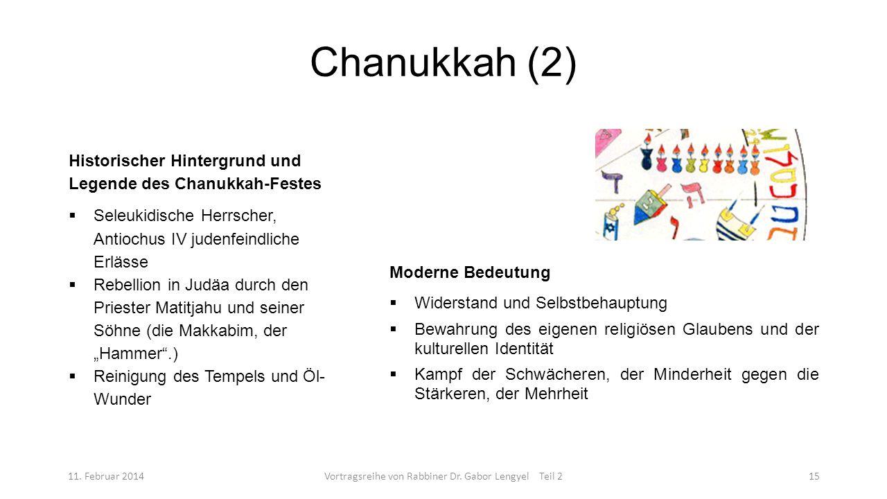 Vortragsreihe von Rabbiner Dr. Gabor Lengyel Teil 2