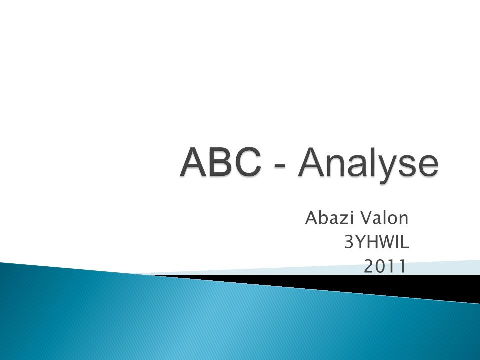 ABC - Analyse Abazi Valon 3YHWIL 2011