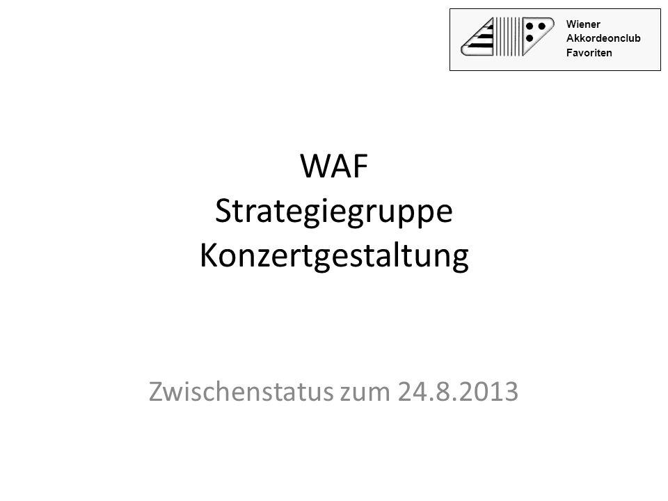 WAF Strategiegruppe Konzertgestaltung