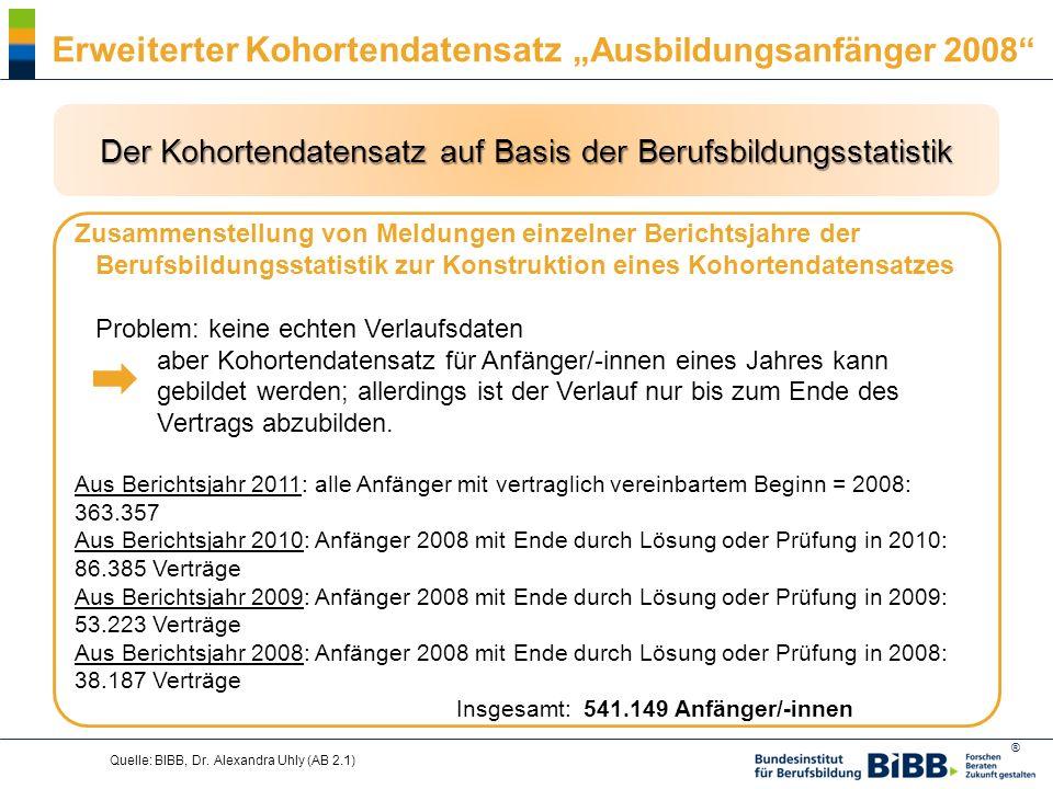 Der Kohortendatensatz auf Basis der Berufsbildungsstatistik
