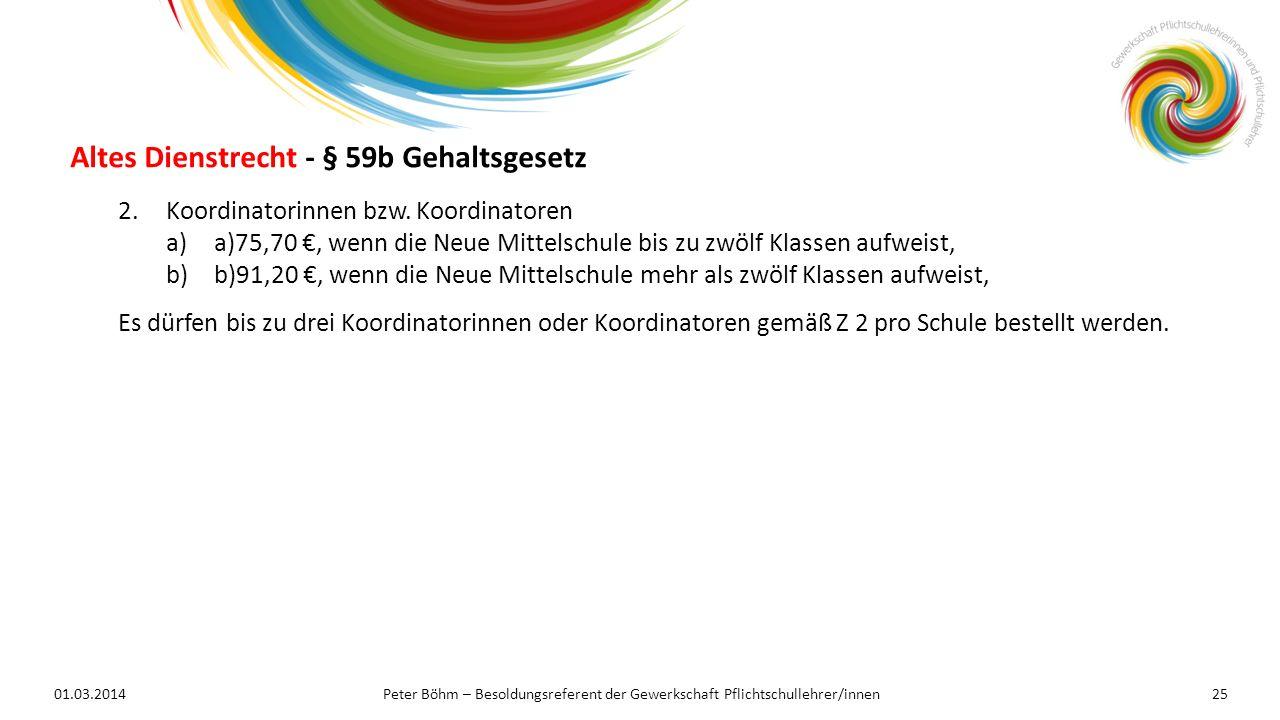 Altes Dienstrecht - § 59b Gehaltsgesetz