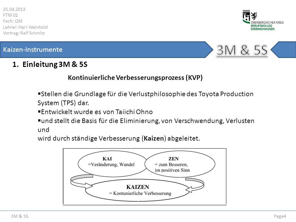 3M & 5S 1. Einleitung 3M & 5S Kaizen-Instrumente
