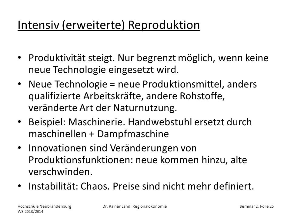 Intensiv (erweiterte) Reproduktion