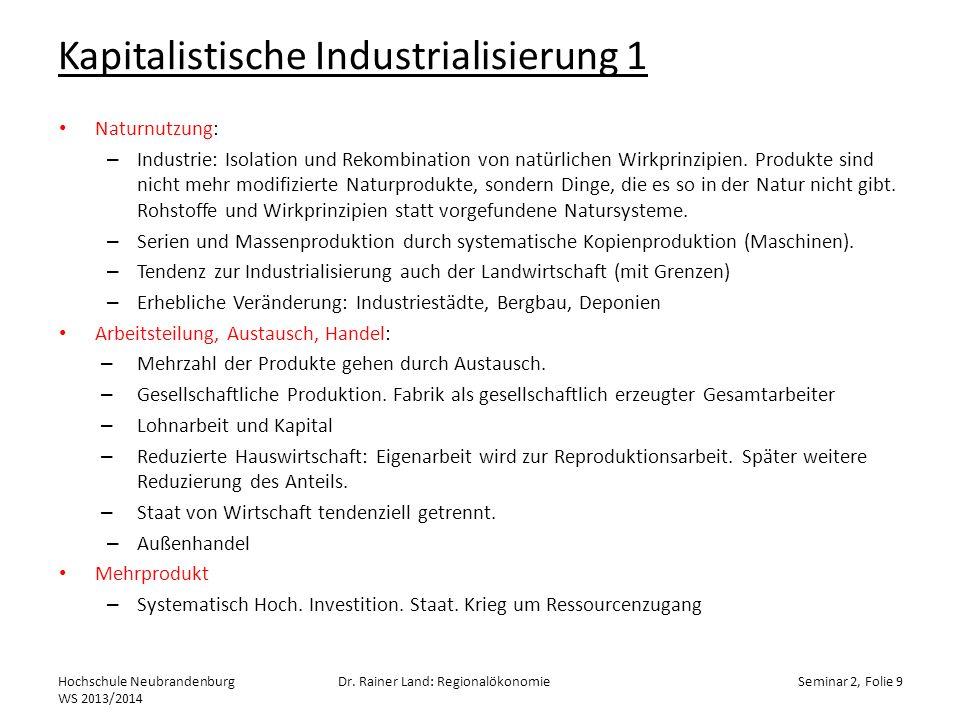 Kapitalistische Industrialisierung 1